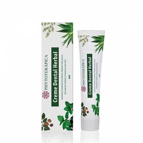 Creme Dental Herbal Adulto Phytoterápica - 80g