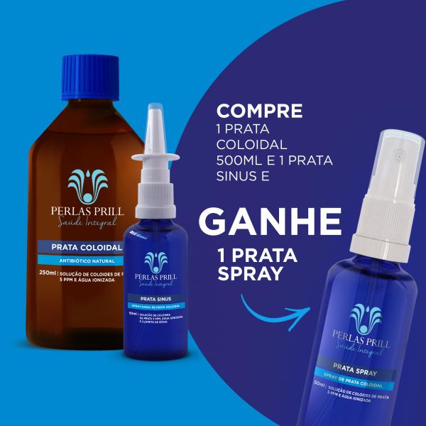 Combo Prata 500ml + Prata Sinus = Prata Spray